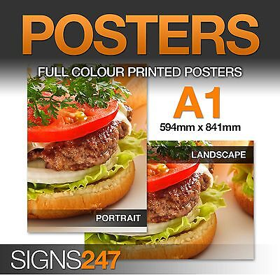 A1 Full Colour SATIN Poster Printing Service - A3 A2 A0 available
