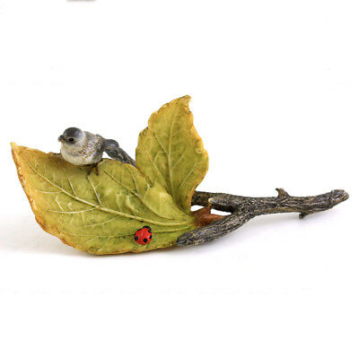 My Fairy Gardens Mini - Little Bird and Ladybug on Leaves - Supplies Accessories