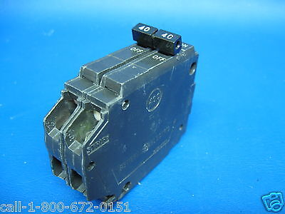 "40 Amp 2 Pole Double Pole 1"" Thin General Electric GE Breaker Type THQP240"