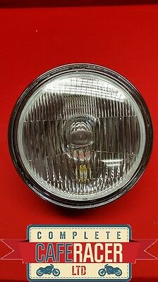 "(Hl5) Cafe Racer Custom Motorcycle Side Mount Headlight Lamp  7"" Lense"