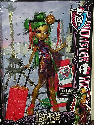 MONSTER HIGH SCARIS CITY OF FRIGHTS JINAFIRE LONG NEW AND SEALED