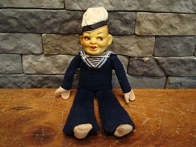 Vintage English Military Sailor Doll Holland America Line Norah Wellings