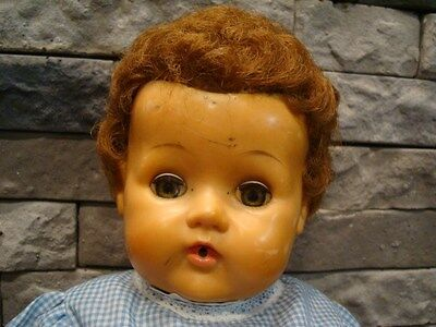 """Vintage 20"""" American Character Tiny Tears Doll Working Rock A Bye Eyes Nice"""