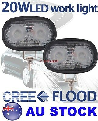 "2X 4"" Cree LED 20W Flood Work Light Lamp Off road Vehicle Driving Boat Jeep Bike"