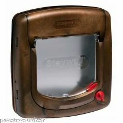 Staywell Petsafe 320 cat flap pet door 4 way upvc deluxe door catflap brown