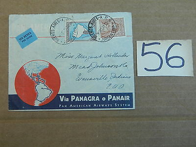 1937 ENVELOPE W/ STAMP FROM ARGENTINA TO USA