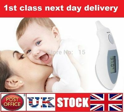 Ear Thermometer IR Infra-Red Digital LCD In-Ear Battery + Case Medical Equipment