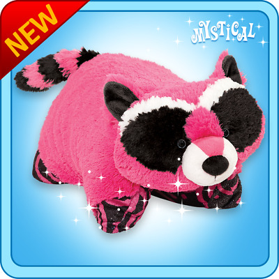 """Authentic Pillow Pets Mystical Raccoon Large 18"""" Plush Toy Gift"""