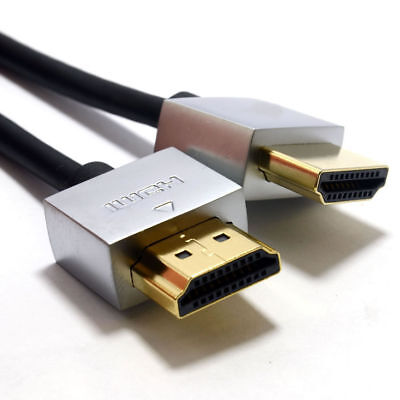5m Ultra Slim Low Profile HDMI 1.4 High Speed Cable Gold for 3D TV [007258]