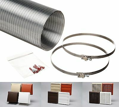 "Cooker Hood Venting Kit Kitchen Ducting Extractor Fan 100mm 4"" 125mm 5"" 150mm 6"""