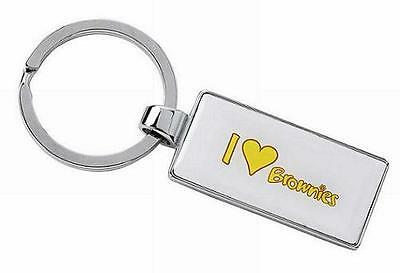 I Love Brownie Keyring Brownie Uniform New