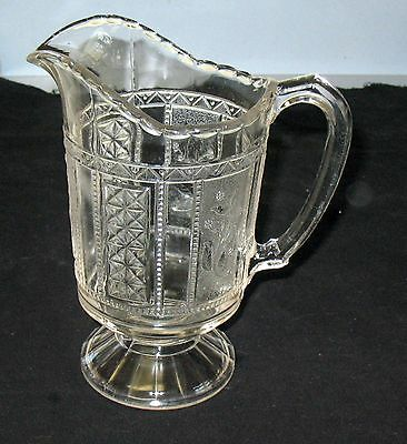 Lovely EAPG 1875 PANELED FORGET-ME-NOT SERVING PITCHER, Bryce Brothers