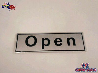 Aluminium 'Open' Sign Restaurant Business Owner Message Sign Stick On | 090