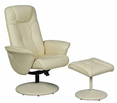 Turin Swivel Recliner Chair Reclining Armchair with FREE Matching Footstool