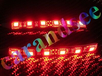 2  Rubands A 6 Led Smd5050 10Cm 12 Volts Rouge Tuning Eclairage Exterieur