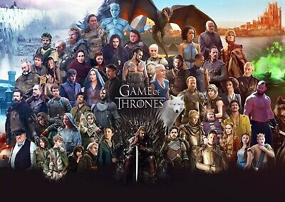 Game Of Thrones Tv Series Glossy Wall Art Poster Print (A1 - A5 Sizes Available)