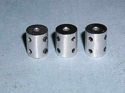 "1/8"" Rigid Shaft Couplers - 3 Pieces 6061 *Fast*"