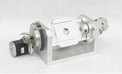 CNC Engraving Machine Rotary Table ,4th&5th Axis Rotational H Style A Axis B Axi