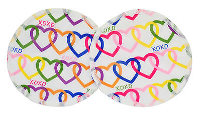Bamboo Cloth Breast Nursing Pads Washable reuseable eco - Love Hearts 2 Pack