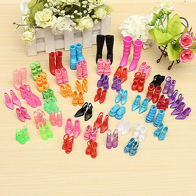 120PCS =60Pairs Trendy Multiple Styles Shoes High Heels For Barbie Doll Clothes