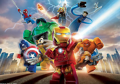 Lego Marvel Super Heroes Wall Art Poster (A1 - A5 Sizes Available)