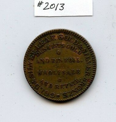 (1832-1835) Ruggles Hard Times Token (#2013) Higher Condition. Decent Planchet.