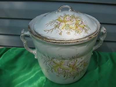 Antique Victorian Maddocks Royal Porcelain Chamber Pot w Lid Handles REDUCED