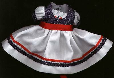 "Madame Alexander 8"" Doll Red, White and Navy Dress"