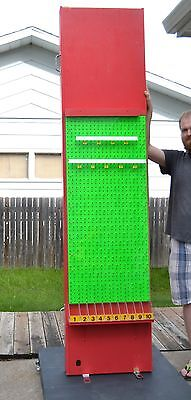 LARGE Carnival Size Custom Built PLINKO Green/Red Game Board - Handmade