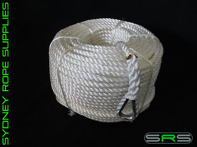200Mtrs X 12Mm Nylon Anchor Rope With Stainless Steel Thimble