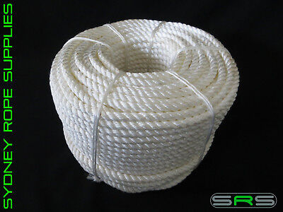100Mtrs X 6Mm Nylon Rope Free Postage Austwide