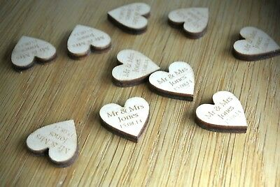 Personalised Wedding Table Decorations Rustic Heart Confetti Scatters Favours