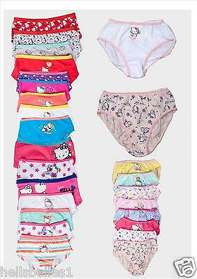 "Girl's 3Prs Of ""Random Pick"" Hello Kitty Briefs/Knickers Or Boxer Shorts 1-14Yrs"