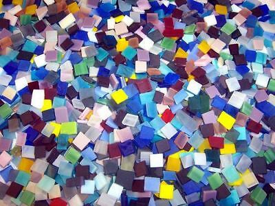 "100 1/2"" Mixed Color Tumbled Stained Glass Mosaic Tiles"