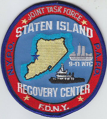 Staten Island Recovery Center WTC 9-11 police fire JOINT TASK FORCE patch NY/NJ