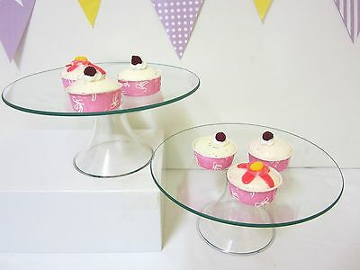 CLEARANCE- 2 for $25 MEDIUM Glass Cake Stand Cupcake stand Candy Lolly Buffet