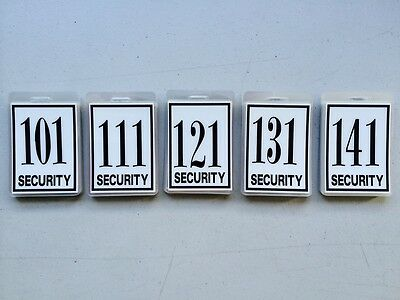 Security Guard, Crowd Controller, ID Number Tags Pack Of 50 Buy Bulk & Save $