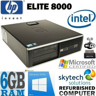 FAST HP ELITE 8000 SFF 6GB RAM CHEAP WINDOWS 10 OFFICE DESKTOP COMPUTER PC WiFi