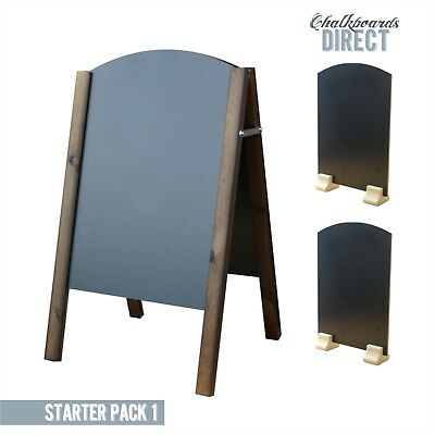 Wooden Pavement Sign A-Board Chalkboard Shop Pub Liquid Chalk (Starter1)