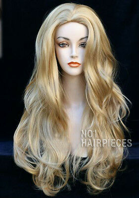 Long Wavy Blonde Womens Ladies Fashion Wig Heat Resistant Nwt Wigs Uk