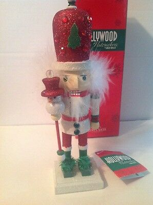 """NIB HOLLYWOOD Christmas NUTCRACKER Tall Gemmed hat with Tree Collectible 10 1/4"""""""