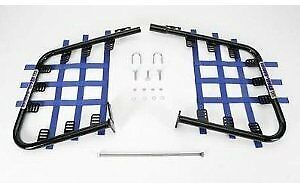 DG Performance Steel Nerf Bars Black Bar Blue Web Suzuki LT230S 54-6250 D54-6250
