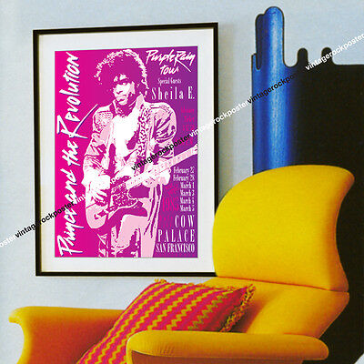 PRINCE - San Francisco, Us -  27 february 1985 - concert poster - c345
