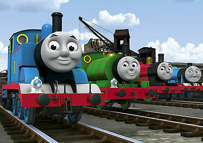 THOMAS THE TANK ENGINE TRAIN NEW GIANT WALL ART PRINT PICTURE POSTER OZ674