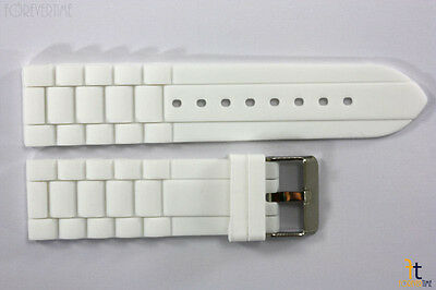 22mm White Silicon Rubber Watch BAND Strap