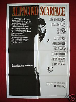 Scarface * 1983 Original Movie Poster 1Sh Authentic Tony Montana Al Pacino Nm-M