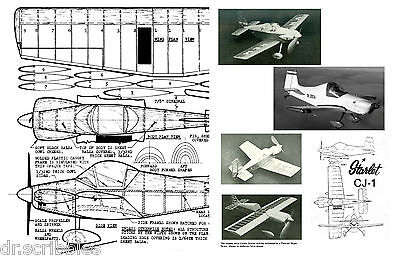 MODEL AIRPLANE PLANS FULL SIZE PRINTED PLAN PEANUT SCALE Corby Starlet