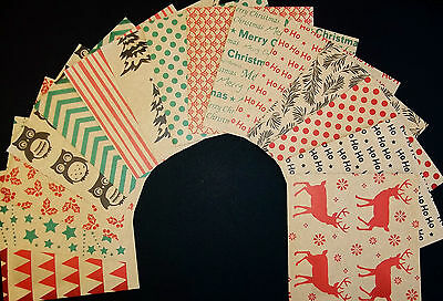 *KRAFT CHRISTMAS*  Quality Christmas  Papers - 15cm x 15cm  (6 X 6)