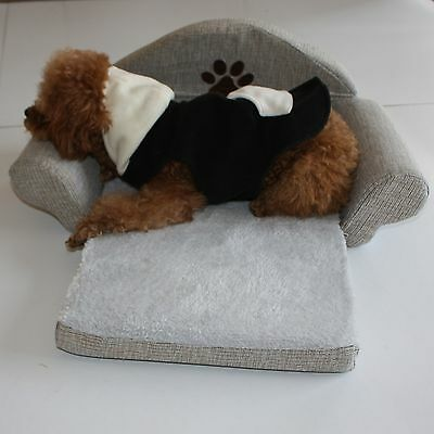 Fashion Dog Bed Pet Soft Cushion Kennel Cute Paw Design Sofa Puppy Collapsible
