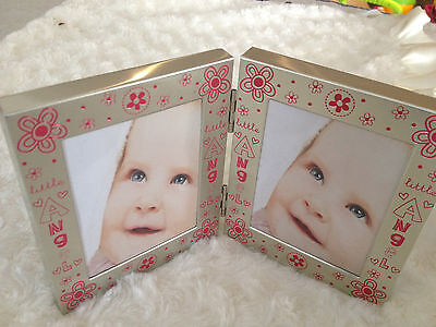 Little Angel baby photo frame pink for girls